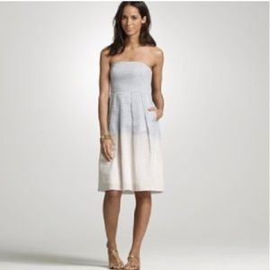 J. Crew Ombre Strapless Cotton Dress